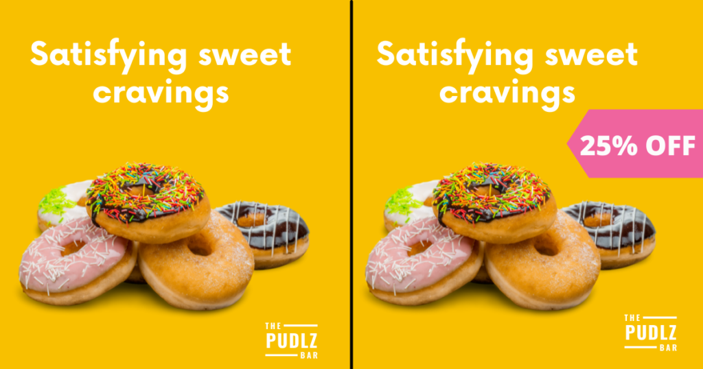 split testing ads example with donuts